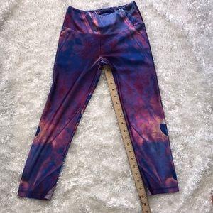 goldsheep Pants - Goldsheep Crop Leggings Oil Slick Size Small T18